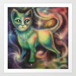 Cosmic Kitten Art Print
