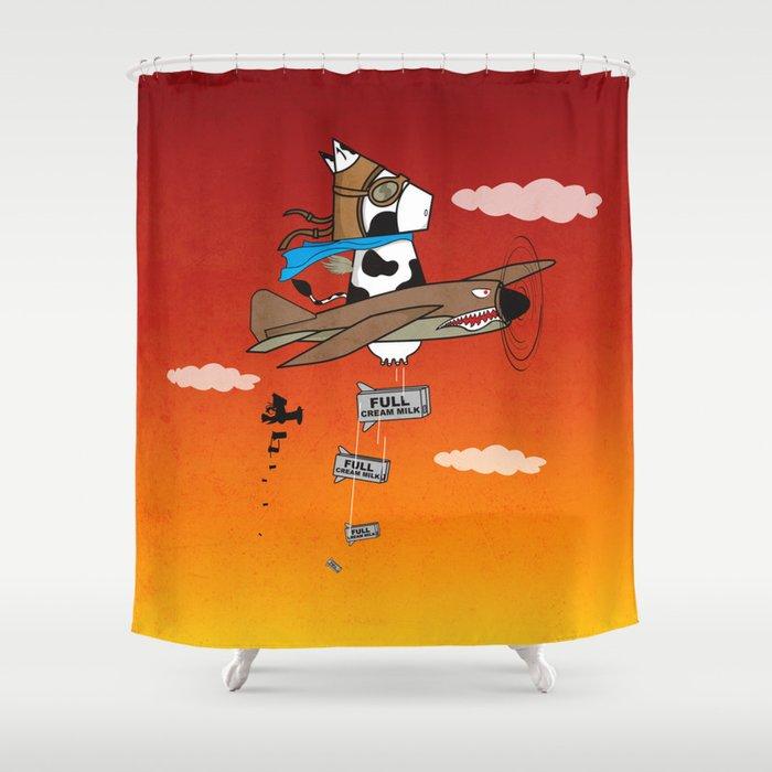 Muso Milkwar Aircraft Shower Curtain