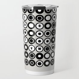 Op Art / Pop Art Alphabet Circles Travel Mug