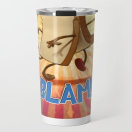 "Slice of Bread goes to the Beach ""BLAM"" Travel Mug"