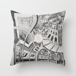 Escher - Print Gallery Throw Pillow