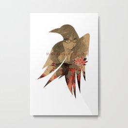 Raven's cloak sprinkled with blood Metal Print