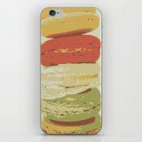 macaron iPhone & iPod Skins featuring Macaron Stack by Kya Owl