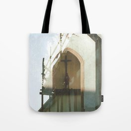 Christianity in Construction - overlapper Tote Bag