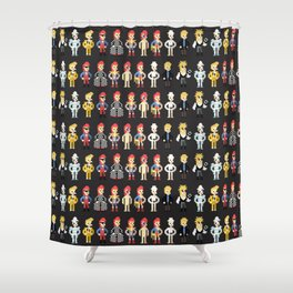 Bowie pixel characters Shower Curtain