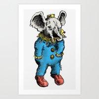 Clown O Phant Art Print