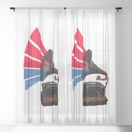 Colour Of Sound Sheer Curtain
