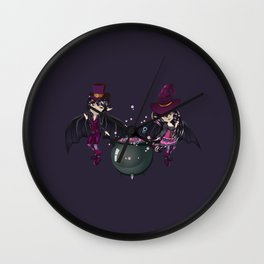 Witch and vampire Wall Clock