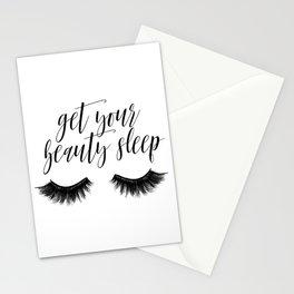 Makeup Quote, Mascara Makes Everything Better, Eyelash Decor, Girls Room Decor Stationery Cards