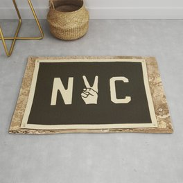 NYC Peace Sign (Color) Rug