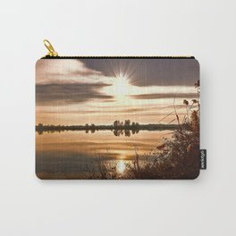 winter reflection on landscape lake Carry-All Pouch