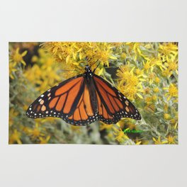Monarch on Rubber Rabbitbrush Rug