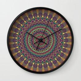 Psychedelic oval  mandala Wall Clock