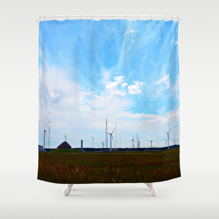 North Cape Wind Farm Shower Curtain By Danbythesea