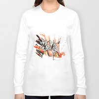 shoes Long Sleeve T-shirts featuring Shoes by Sasha Spring Illustration