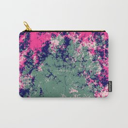 Abstract Colorful Pink Green Camouflage Boho Chic Pattern Art - Talim Carry-All Pouch