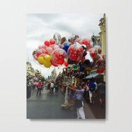 Mickey Balloons Metal Print