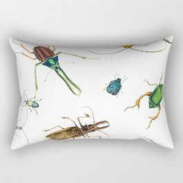 Bug Life - Beetles - Bugs - Insects - Colorful - Insect Pattern Rectangular Pillow