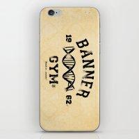 gym iPhone & iPod Skins featuring Banner Gym by Mitch Ethridge
