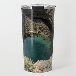 Bimmah Sink hole (Hawaiyat Najm) in Dibba Al Bay Ah, Oman Travel Mug