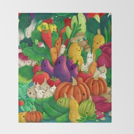 Nice People Eat Vegetables - background (Made with Danny Ivan) Throw Blanket