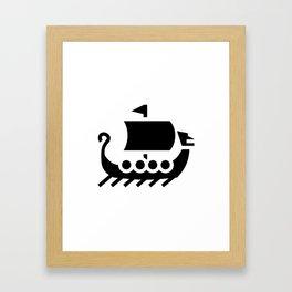 Viking Boat Framed Art Print