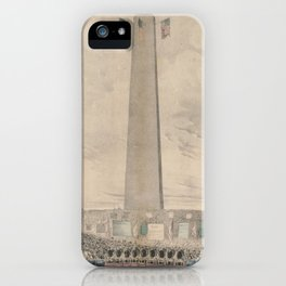 Vintage Bunker Hill Monument Inauguration Illustration iPhone Case