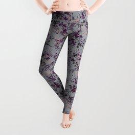 Chalk Branches-Purple Leggings