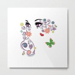 Purple summer eyes Metal Print