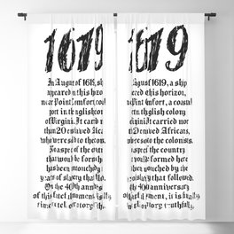 Project 1619 Established American Black History Blackout Curtain