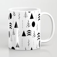 alisa burke Mugs featuring Warli Painting by 83 Oranges™