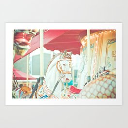 Spinning Carousel Art Print