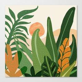Desert Garden Sunset Canvas Print