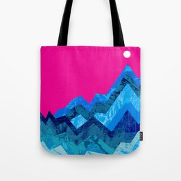 The hight waves under a small moon Tote Bag