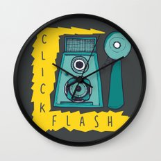 Vintage Camera   Grey Wall Clock