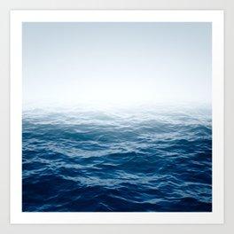 Cranky Ocean Art Print