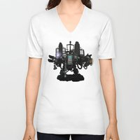 warhammer V-neck T-shirts featuring Death Incarnate by John Medbury (LAZY J Studios)