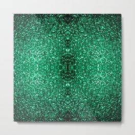 Beautiful Emerald Green glitter sparkles Metal Print