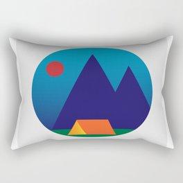Sunset Camping Rectangular Pillow