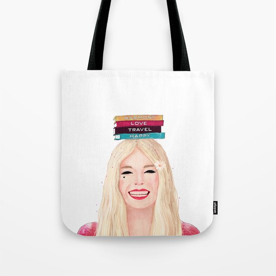 Happy blonde Tote Bag