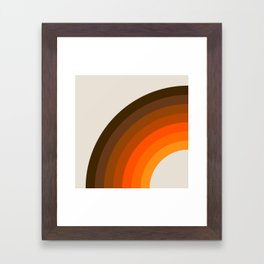 Retro Golden Rainbow - Left Side Framed Art Print