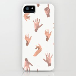 Touching Hands iPhone Case