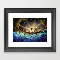 Something About Her Framed Art Print