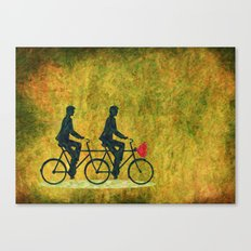 On Wheel Love Canvas Print