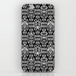 Ethnic African Tribal pattern on black iPhone Skin