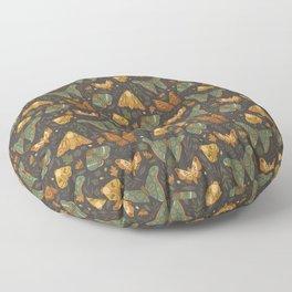 Autumn Moths Floor Pillow