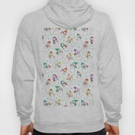 Cute red purple white snowman christmas pattern Hoody