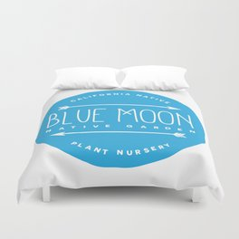 Blue Moon Native Garden Duvet Cover