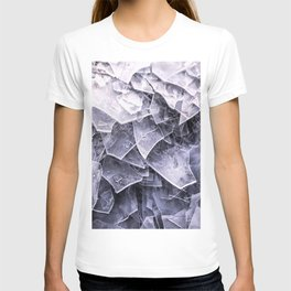Cracked Ice Tiles In Lake Shore  T-shirt
