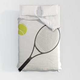 Tennis Racket And Ball 1 Comforters